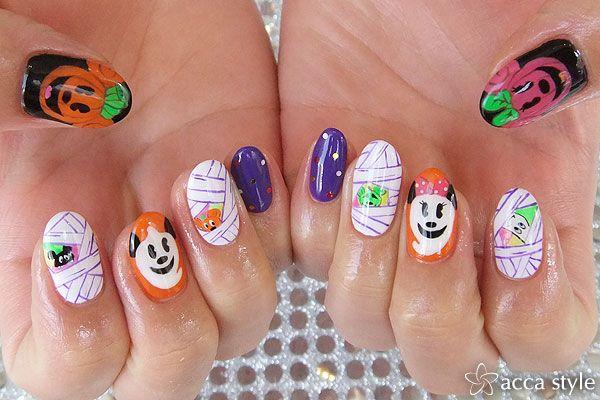 ☆ディズニーハロウィン☆ 【acca style】 http://nail-beautynavi.woman.excite.co.jp/design/detail/340044 ≪ #nail #nails #nailart #softgel #Halloween #秋ネイル #ネイル #ハロウィン #ハロウィンネイル #Halloweennails #art #ideas #design #disney #mickey #ディズニー ≫