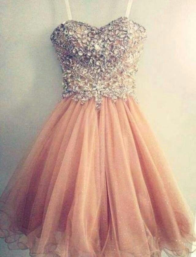 Peach Rignstone Dress.                                                                                                                                                                                 More