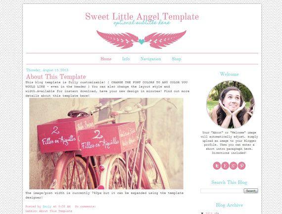 Premade Blogger Template Cute Modern Blog Design