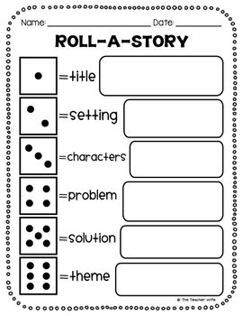 Love this, read a story with students, then have them roll dice to answer these questions about it.