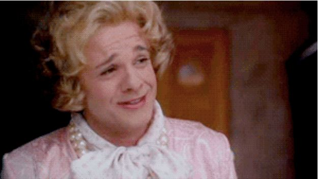 """Nathan Lane based his drag look for Mrs. Goldman off former First Lady Barbara Bush. 