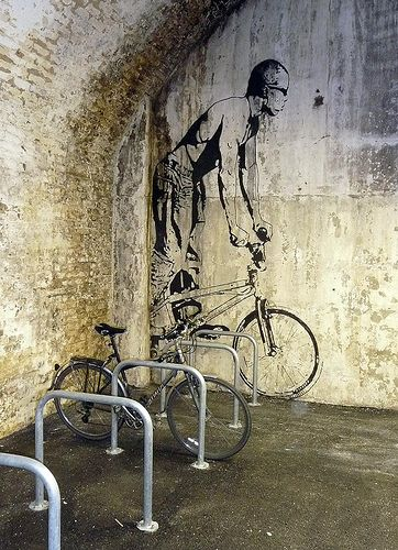 """street art, works so well with textures of wall, Banksie """"ish"""""""
