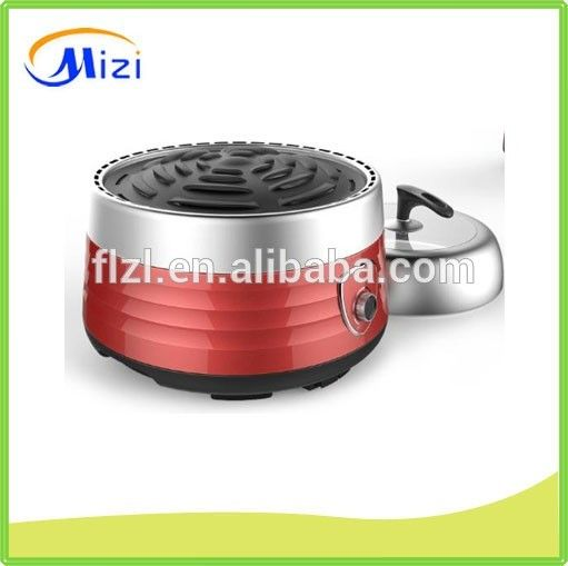 Built in charcoal bbq grill with cap for barbecue