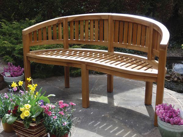 teak san diego bench 150cm garden