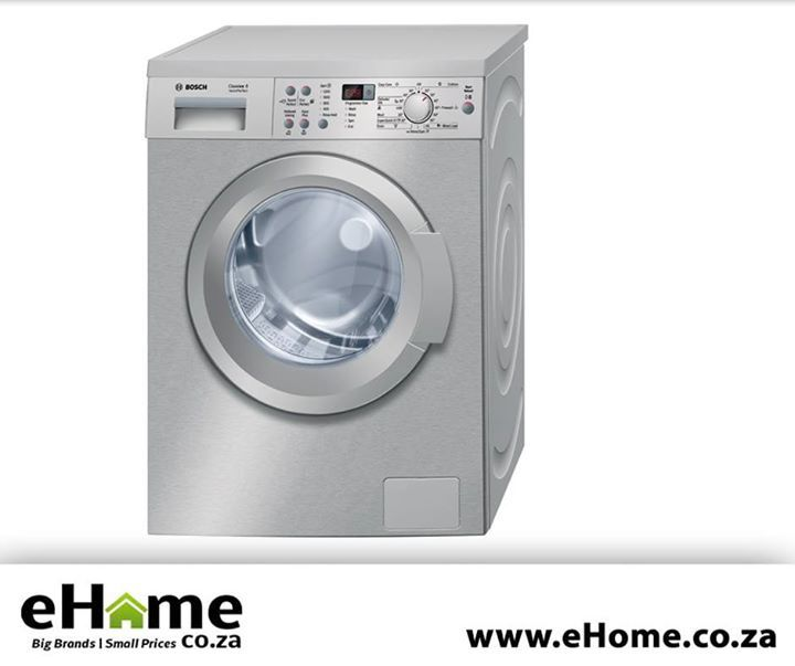 Experience perfect laundry and minimal water consumption regardless of the load size with the Bosch Classix 8kg Washing Machine. Click here to read more about the item, http://apost.link/2V5. #ehome #eco #appliances