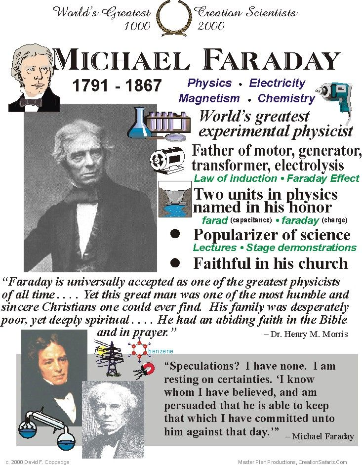 The death, aged 75, of the English scientist Michael Faraday, on this day 25th August, 1887. His inventions formed the foundation of electric motor technology and it was largely due to his efforts that electricity became viable for use in technology
