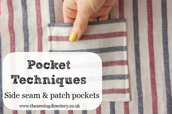 How to sew side seam pockets and patch pockets
