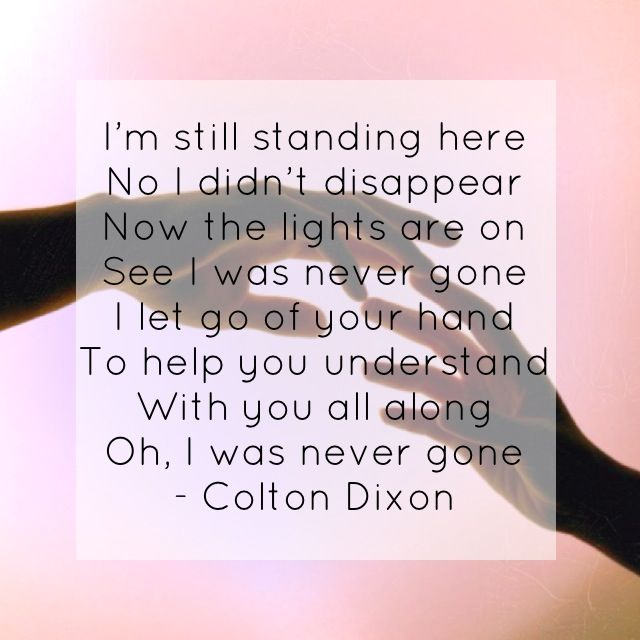 """""""Never Gone"""" - Colton Dixon   I LOVE THIS SONG !!!!!! it was AWESOME i got to see Colton Dixon perform at winter jam 2014 it was SO COOL I AM SOOO GOING NEXT YEAR!!!"""