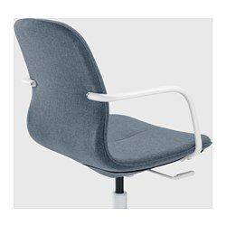 LÅNGFJÄLL Sedia da ufficio, Gunnared blu, bianco - Gunnared blu - bianco - IKEA