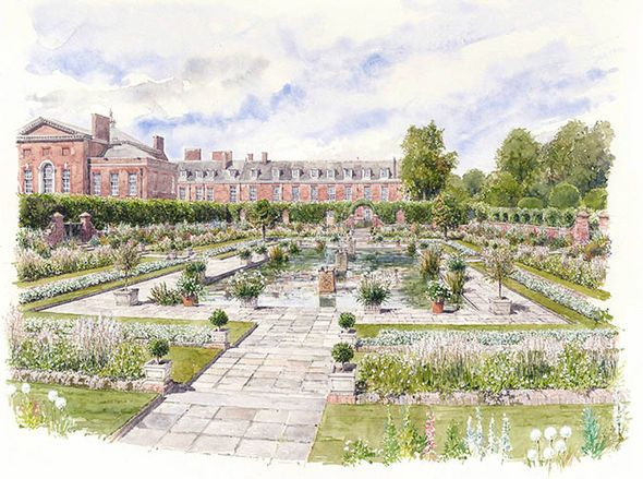 The White Garden plans artwork, New Memorial Garden planned at Kensington Palace for Diana, Princess of Wales.