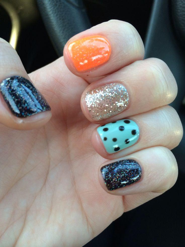 Halloween gel nails | Nails | Pinterest