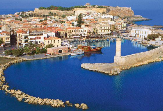 A panoramic view of the old Venetian port and city or Rethymno!