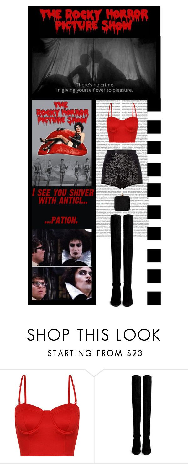 """""""The Rocky Horror Picture Show (movie/musical)"""" by irresistible-livingdeadgirl ❤ liked on Polyvore featuring Stuart Weitzman, Vivienne Westwood, Paul Frank, viviennewestwood, StuartWeitzman, THIGHHIGHBOOTS, TheRockyHorrorPictureshow, transvestite, funny and movie"""
