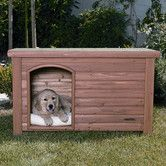 Found it at Wayfair - Outback Log Cabin Dog House in Cedar