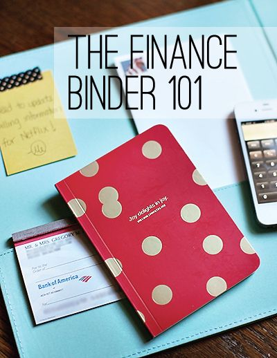 A good break down of a finance binder. I really like the way that they organized it.