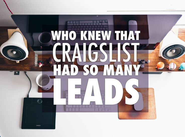 The best tips to get real estate leads from Craigslist today! This free guide…