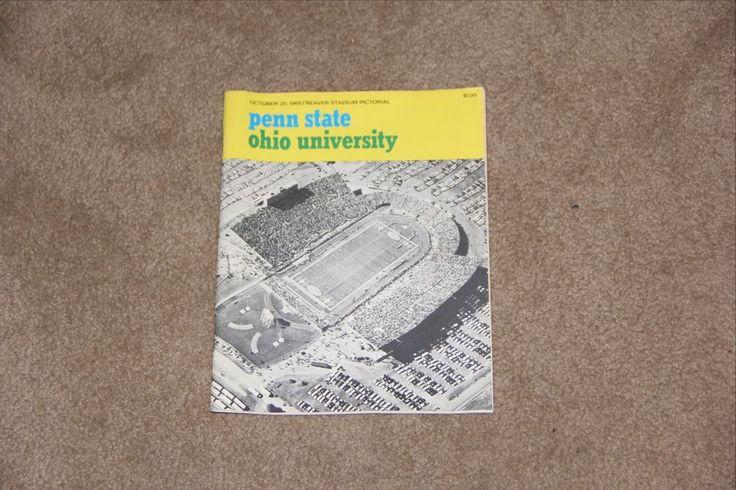 Penn State vs. Ohio Football Program October 25, 1969 #PennStateNittanyLions