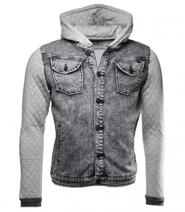 Veste en jean sans manche homme h&m