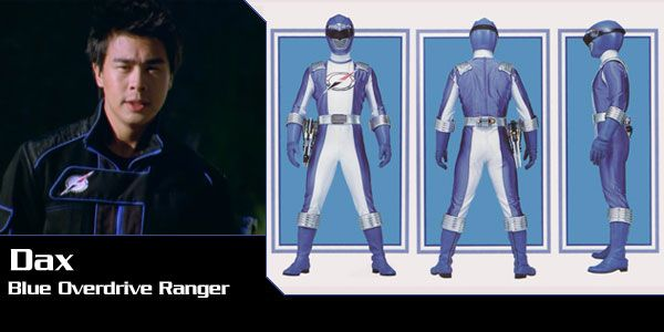 Dax Lo (Blue Overdrive Ranger) - Power Rangers Operation Overdrive   Power Rangers Central