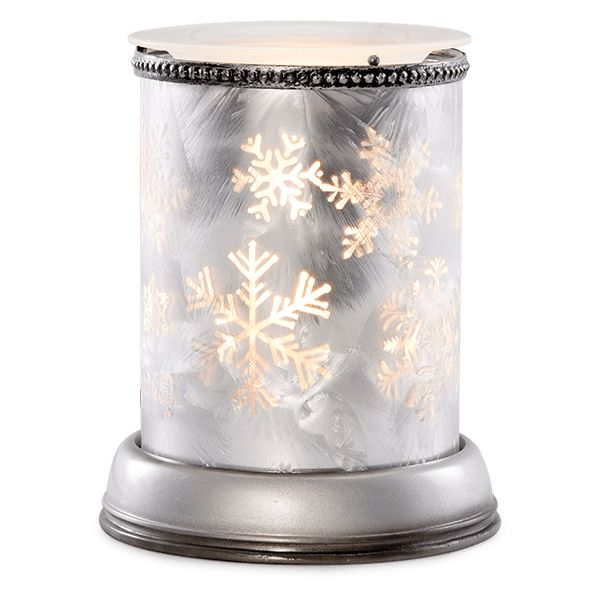 Silver Frost Scentsy Warmer $45. Silver Frost captures the elegance of snowflakes on a silvery glass vase. With a flick of the switch, the delicate flakes cast a radiant glow with plays of shadow and light.