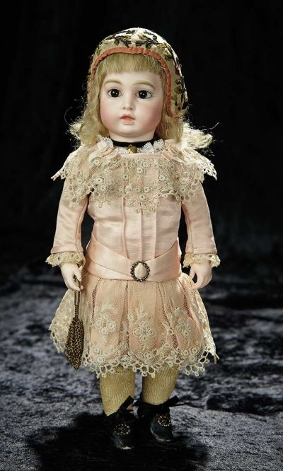 Soirée: A Marquis Cataloged Auction of Antique Dolls and Automata - May 14, 2016: Lot 117. Petite French Bisque Bebe, Size 2, by Leon Casimir Bru