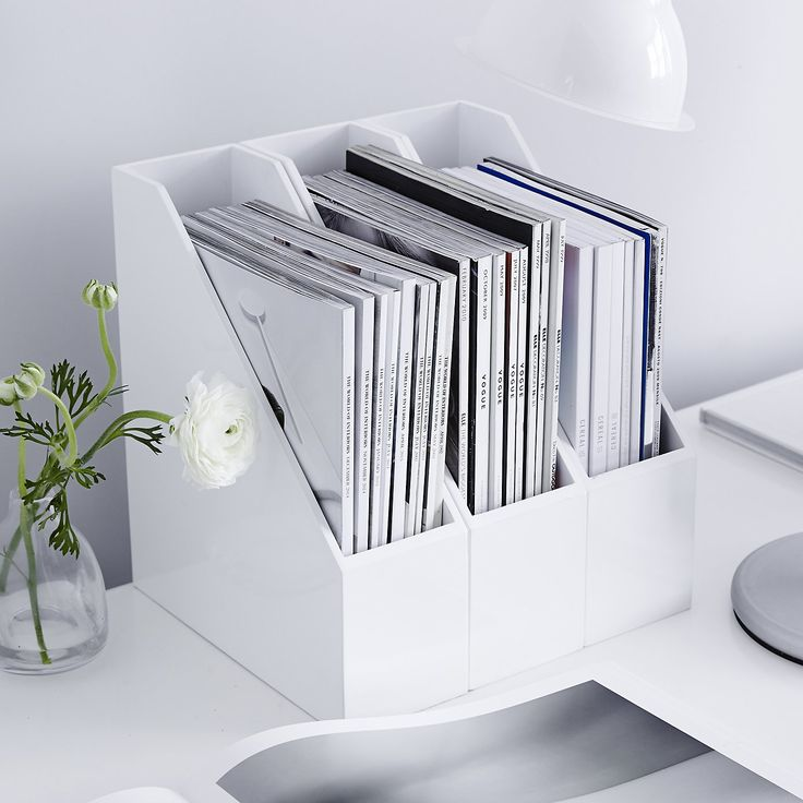 Lacquer Magazine Holder | The White Company. Shopping from the US? -> http://us.thewhitecompany.com/Home-%26-Bath/Decorative-Accessories/Lacquer-Magazine-Holder/p/LAHMR?swatch=White