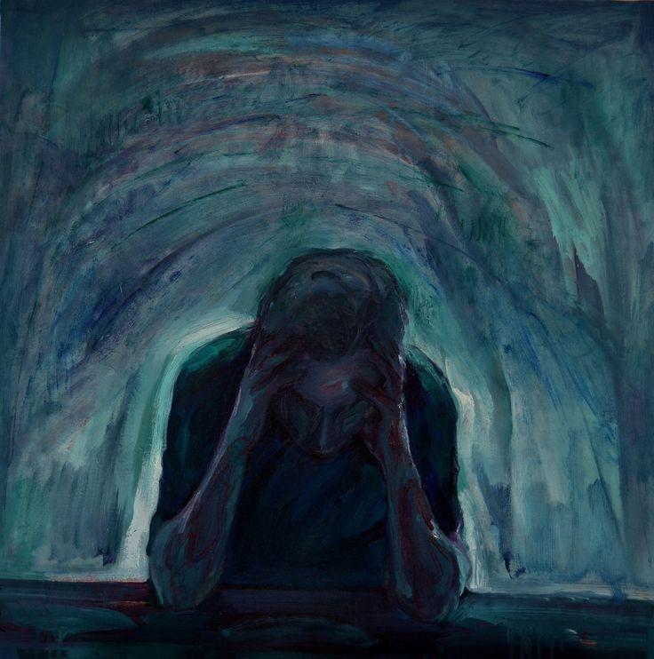 En el núcleo del pensamiento, óleo-lienzo, 73x73 cm.