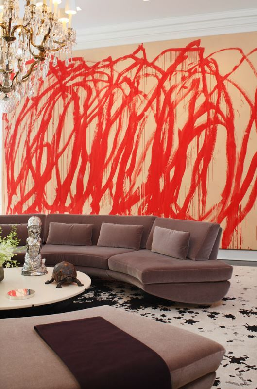 Bold artwork makes a statement bold and wonderful interiors to inspire