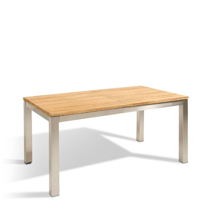 Gartentisch Mit Auszug Steel 160 210x90cm Teak 160 210 X 90 Cm