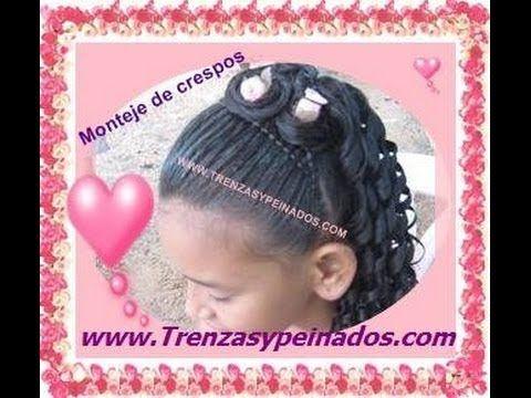 Peinado para niñas con crespos