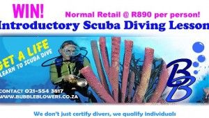 Woman Online Magazine and Bubbleblowers are giving 1 lucky reader the chance to win a 1-day Introduction to Scuba worth R890