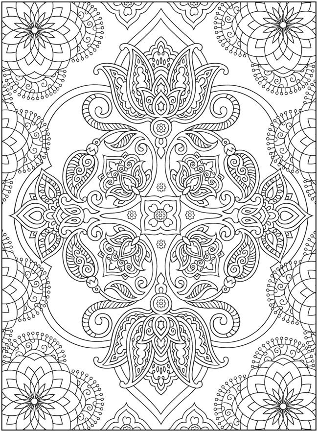 dover sampler creative haven mehndi designs collection coloring book