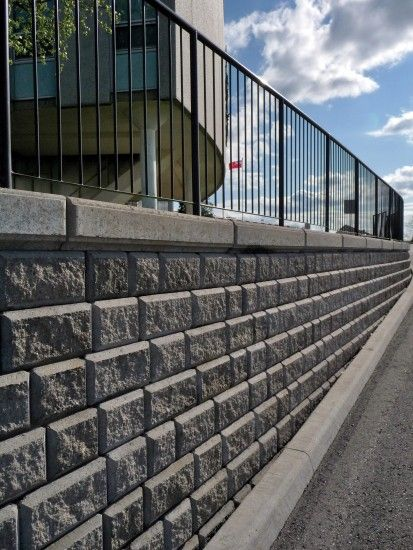 Unilock - Whitby City Hall with Sonoma Stone wall in Ontario