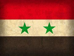 Syria Flag Art - Syria Flag Vintage Distressed Finish by Design Turnpike