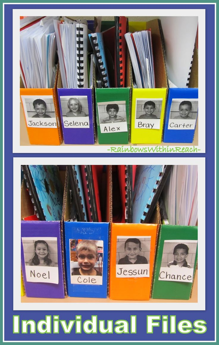 Individual Student Bins for Classroom Organization