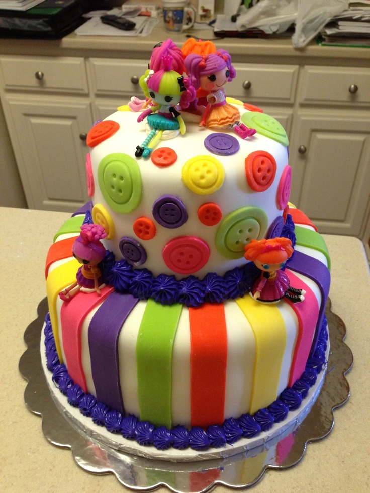 Lalaloopsy birthday cake... Super cute!!!