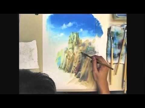 アナログ背景の描き方「崖を描いてみた」
