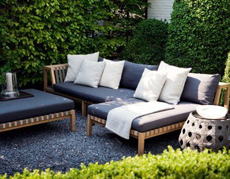 Navy outdoor cushions