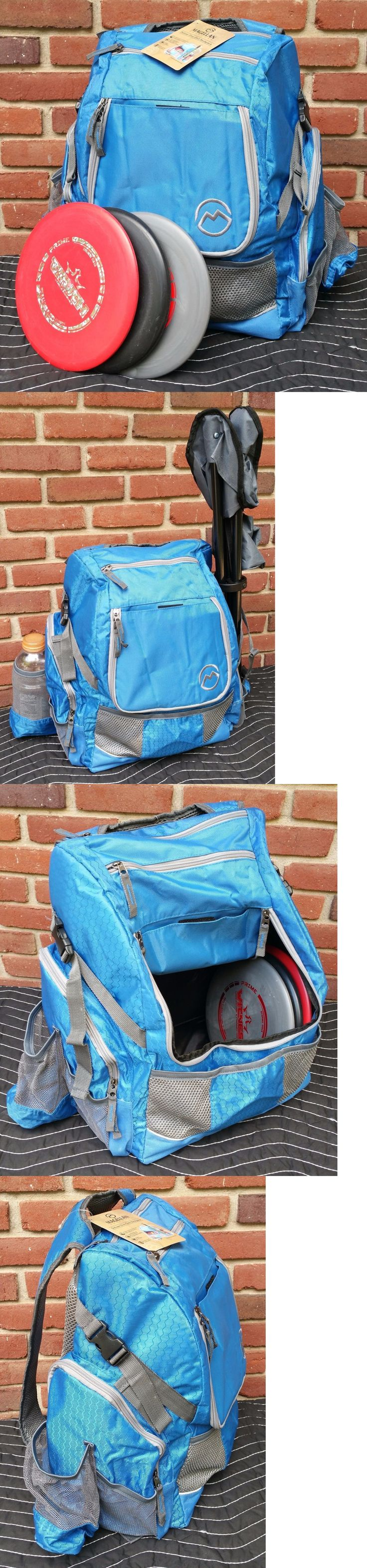 Disc Golf 20851: New Blue Disc Golf Backpack Holds 21+ Discs Deluxe Frisbee Bag Ultimate Tote -> BUY IT NOW ONLY: $40.85 on eBay!
