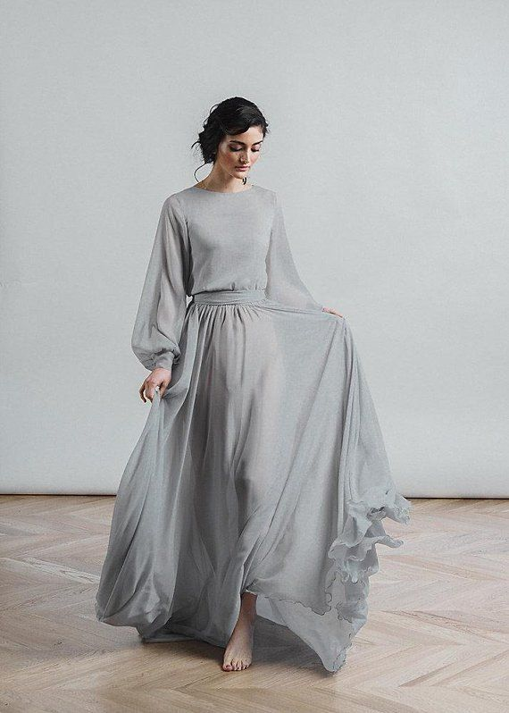 Soft Moody Romantic Gray Wedding Dresses Are Our Jam Simple