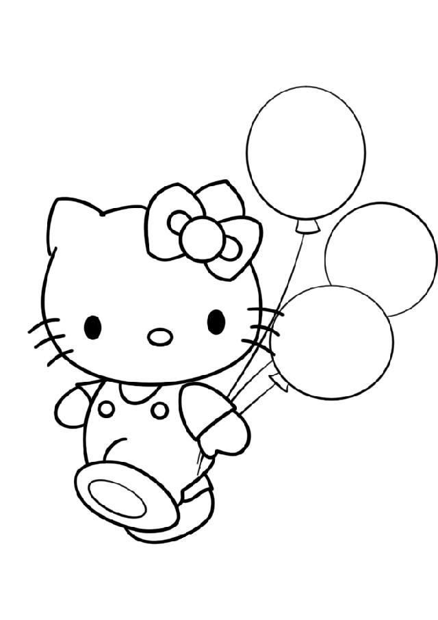 Hello Kitty Balloon Coloring Pages Hello Kitty Coloring Kitty Coloring Hello Kitty Colouring Pages