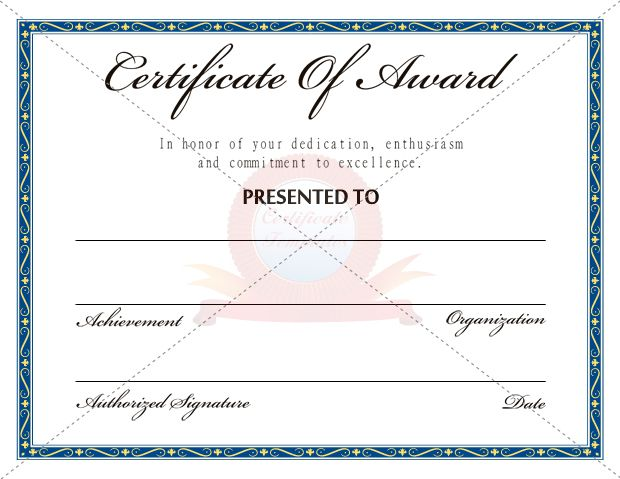 39 best AWARD CERTIFICATE TEMPLATES images on Pinterest Award - award of excellence certificate template