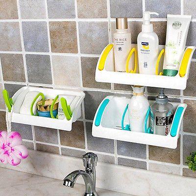 Details about Suction Cup Kitchen Sink Holder Bathroom Plastic Storage Shelf  Rack Organizer. 17 Best ideas about Plastic Storage Shelves on Pinterest   Crayon