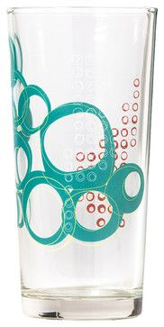Kay Collection - Glass Tumbler Set - Teal - contemporary - cups and glassware - Working Class Studio