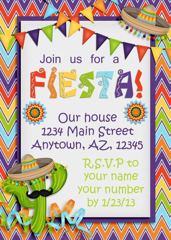 Cinco De Mayo Fiesta Invitation Party Ideas Pinterest Fiesta
