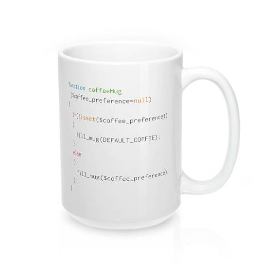 The perfect mug for PHP coders with an affinity for latte coffee #php #gifts #coding #giftideas #giftsforher #giftsforhim #programminghumor