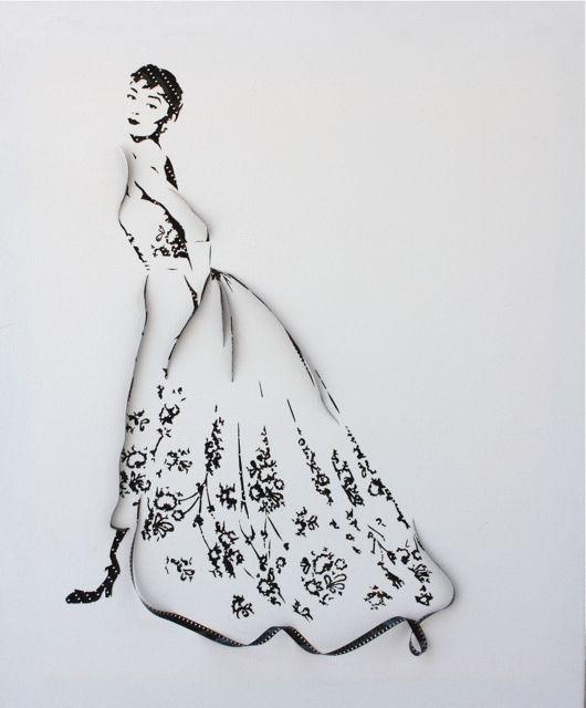 Audrey Hepburn ( made from recycled 8mm film )  | Erika Iris