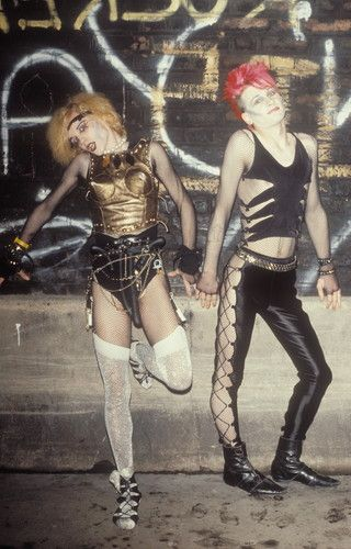 New Romantics / Goths 1980s Vintage street Style fashion photography.