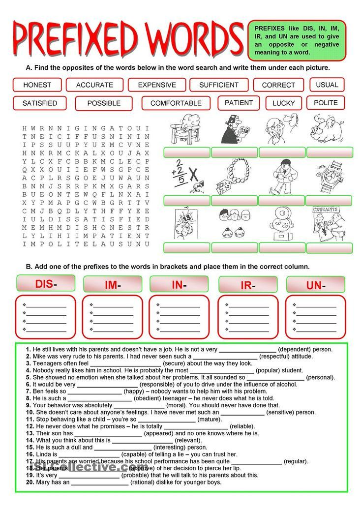 Printable Worksheets prefixes for kids worksheets : 95 best prefix suffix images on Pinterest | Prefixes and suffixes ...