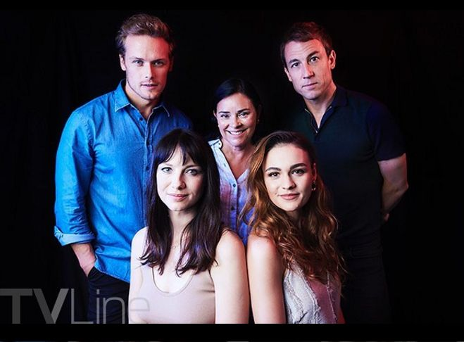 NEW TV Line SDCC Portrait of The Cast of Outlander | Outlander Online